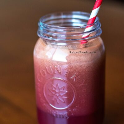 Blackberries & Kale Juice