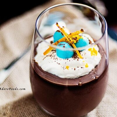 Easter Chocolate Pots de Creme