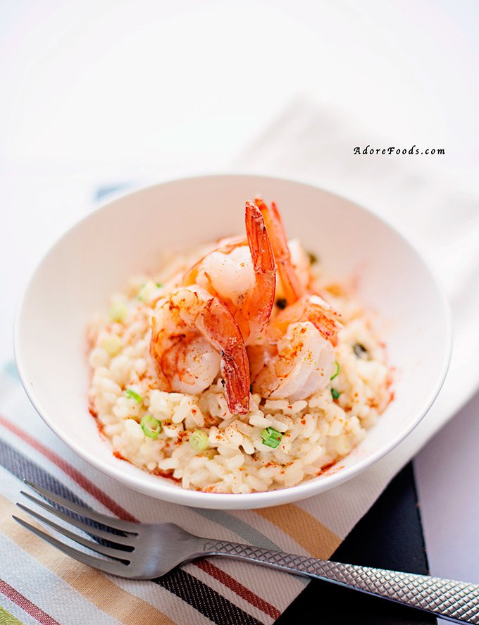 Creamy Garlic Prawn Risotto (Shrimp) Recipe