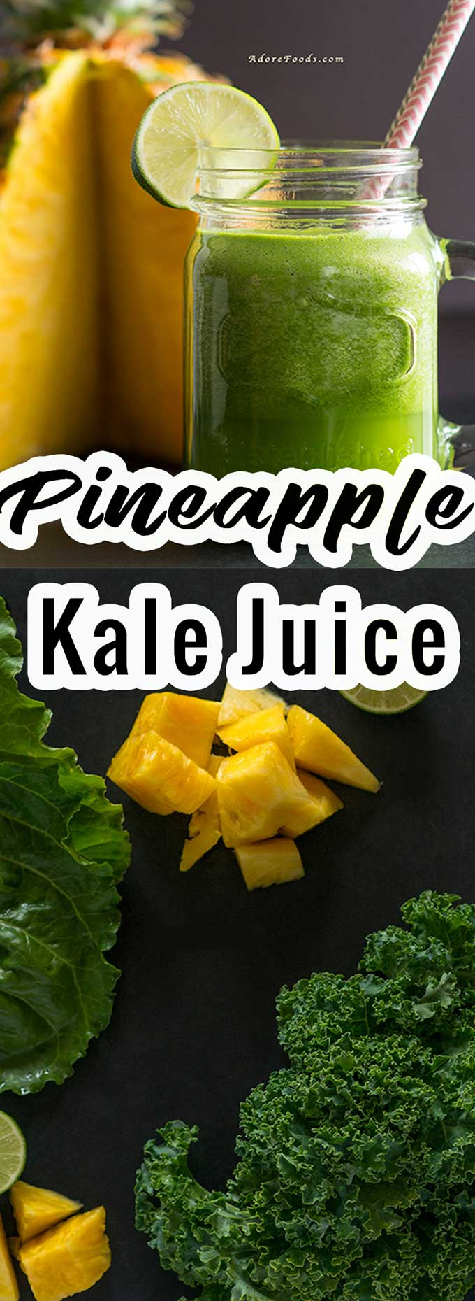 pineapple and kale fresh green juice recipe