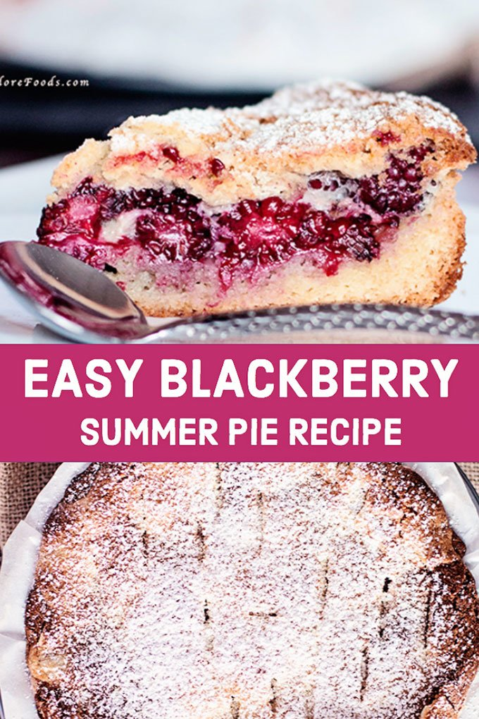 blackberry pie with fresh blackberries filling and flaky crust