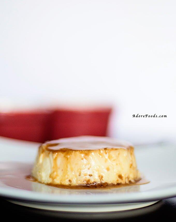 Creamy Caramel Flan on a plate