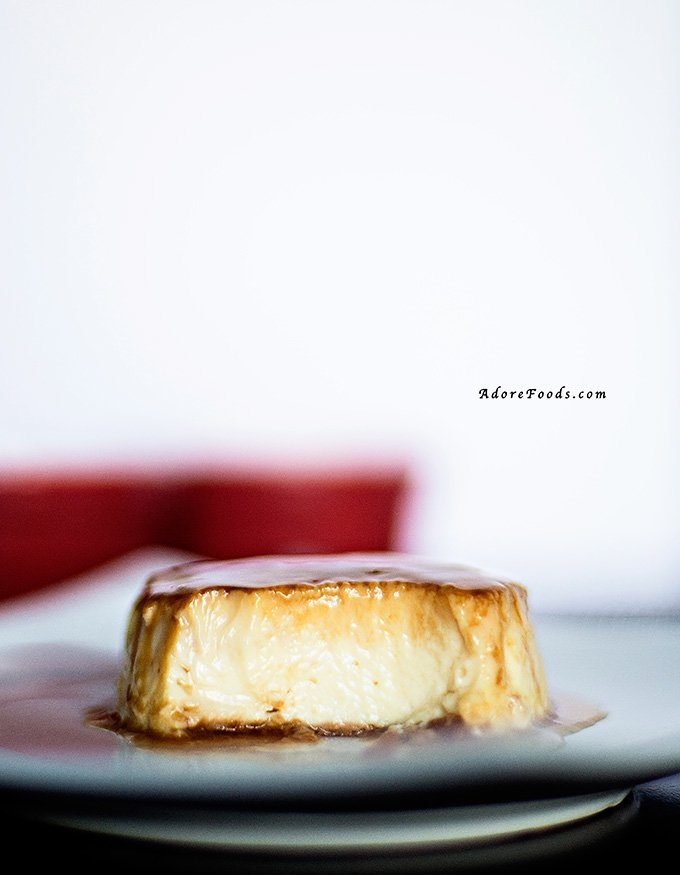 Creamy inside of Caramel Flan recipe