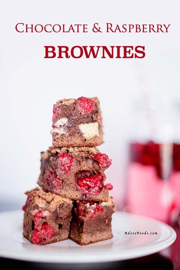 Fudgy Chocolate Raspberry Brownie Bites Recipe made from scratch with real raspberries.