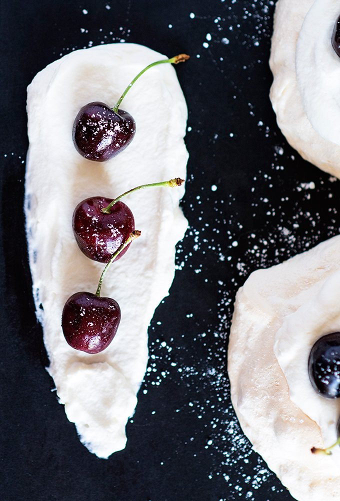 Cherry Mini Pavlovas