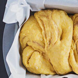 Braided Pumpkin and Cinnamon Brioche Bread