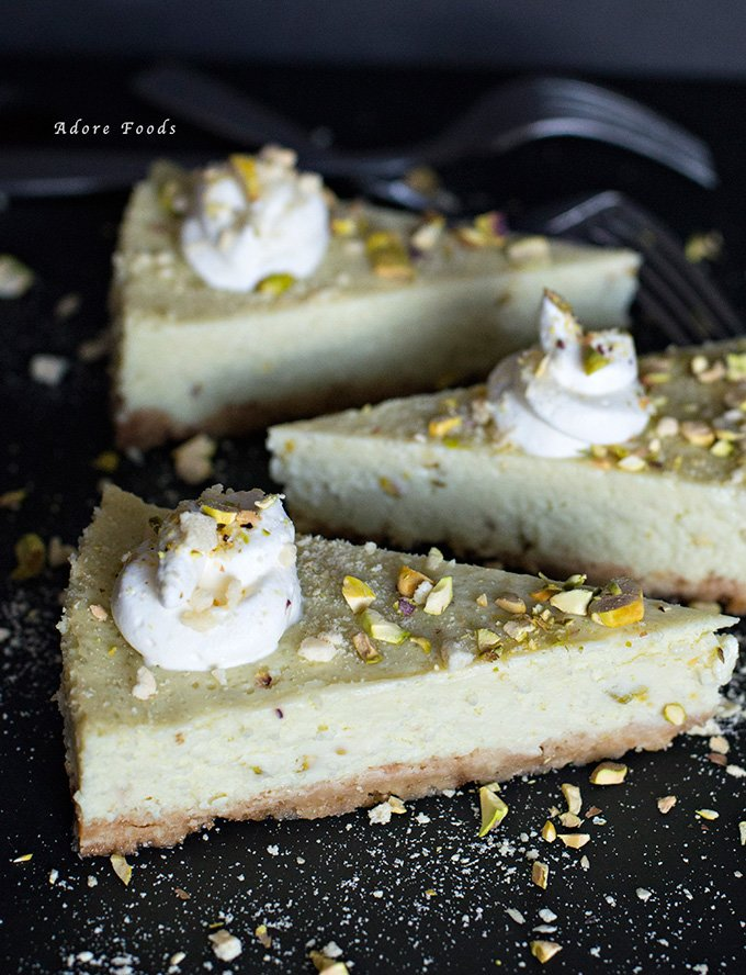 Pistachio Lime Cheesecake