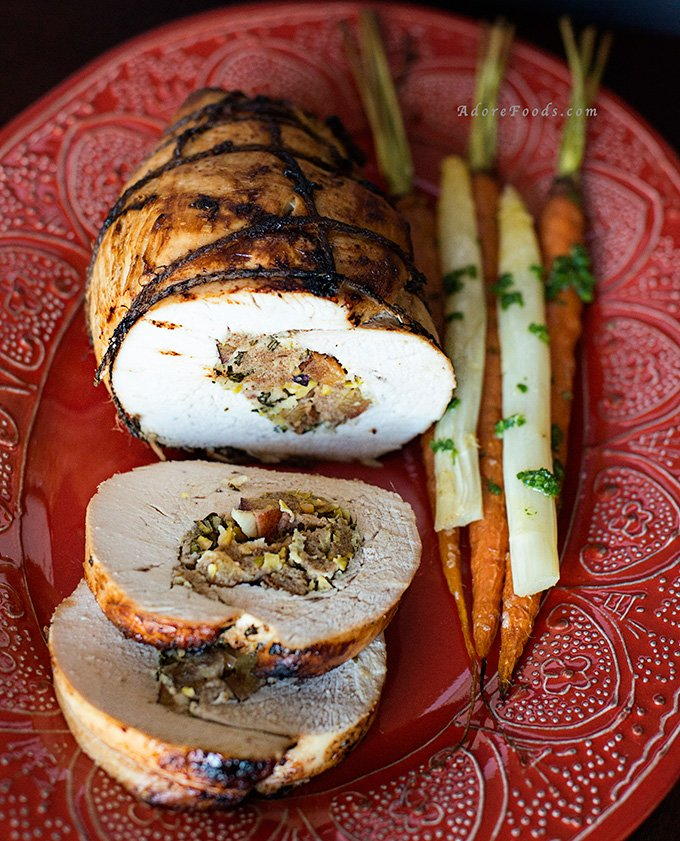 roast ed turkey breast stuffed turkey breast stuffed roast turkey ...