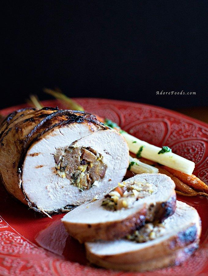 roast ed turkey breast stuffed turkey breast stuffed roast turkey ...