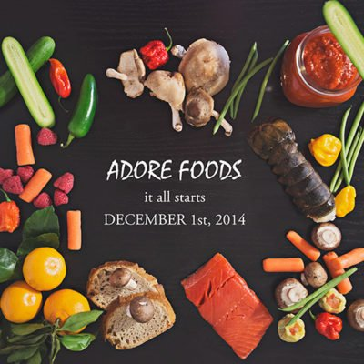 New website, ADORE FOODS is here!