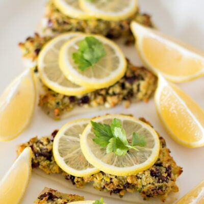 Cranberry and Pistachio Crusted Fish