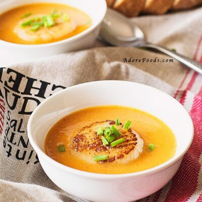 St Patrick's Day Irish Scallop Bisque Recipe