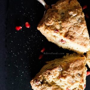 Pomegranate Citrus Scones