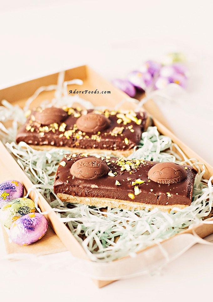 No Bake Easter Chocolate Slice