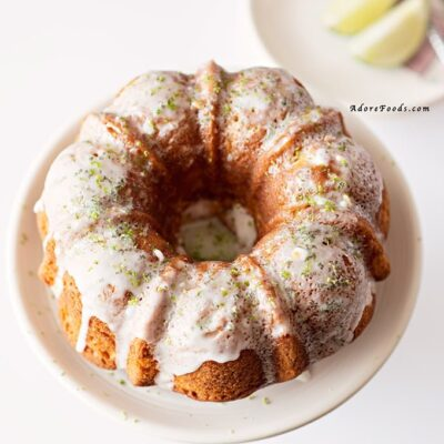 Key Lime Bundt Cake with Coconut Lime Glaze