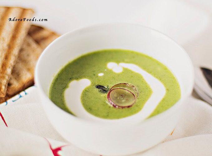 Roasted creamy asparagus soup