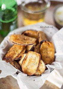 Crispy greek fried eggplant aubergine recipe forumfinder Image collections
