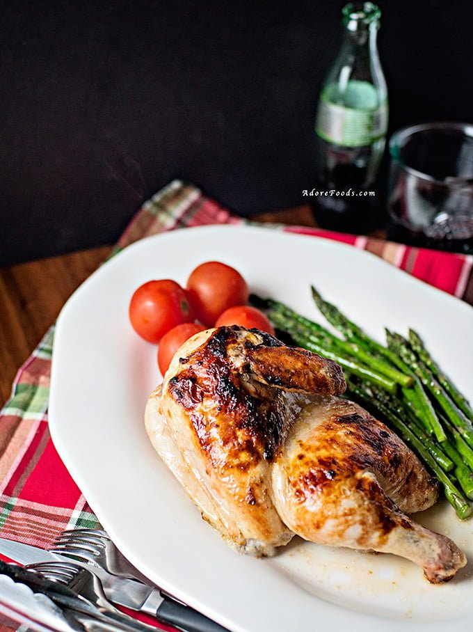Oven Baked Chicken with Rhubarb Butter