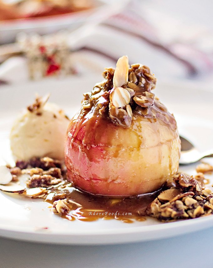 Easy Apple Crisp Stuffed Baked Apples Recipe