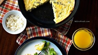 Baked Zucchini and Corn Frittata