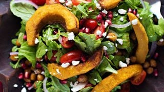 Middle Eastern Roasted Pumpkin and Feta Salad
