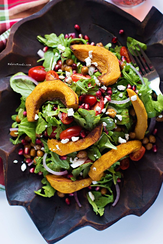 Middle Eastern Roasted Pumpkin and Feta Salad | Adore Foods