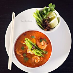 Thai Pumpkin Soup with Shrimp (Prawn)