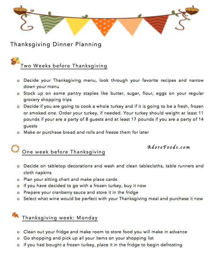 free printable thanksgiving dinner planner adore foods