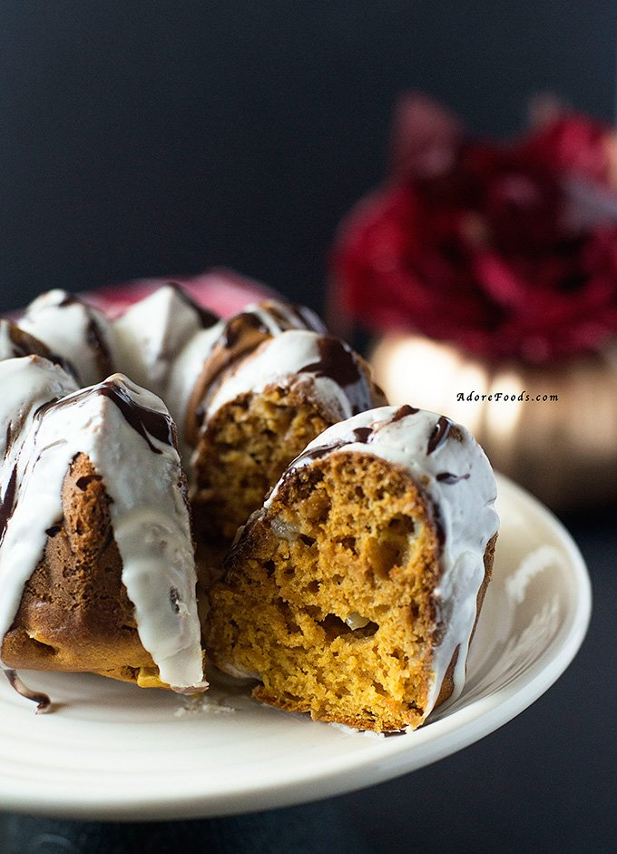 Pumpkin Pear Bundt Cake Thanksgiving dessert