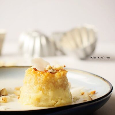 Brazilian Coconut and Tapioca Pudding Cakes
