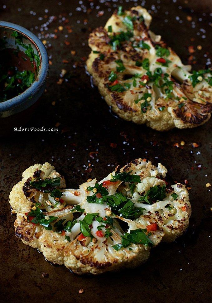 Chimichurri Cauliflower Steak