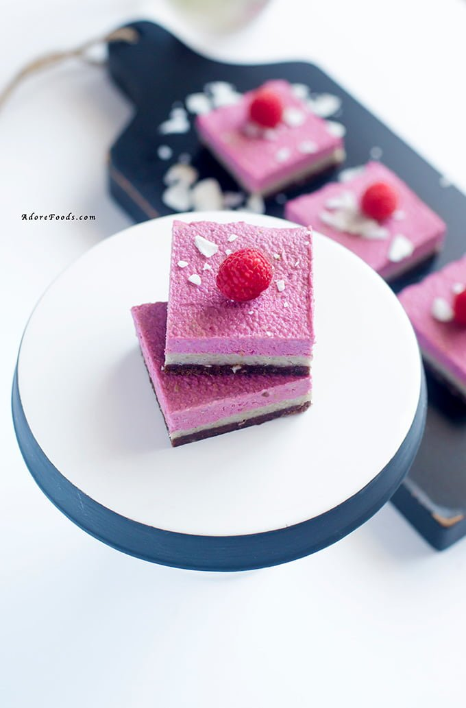 Raw Vegan Raspberry Cheesecake