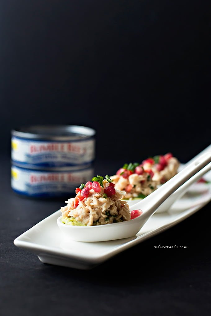 Spicy Tuna and Pomegranate Salad