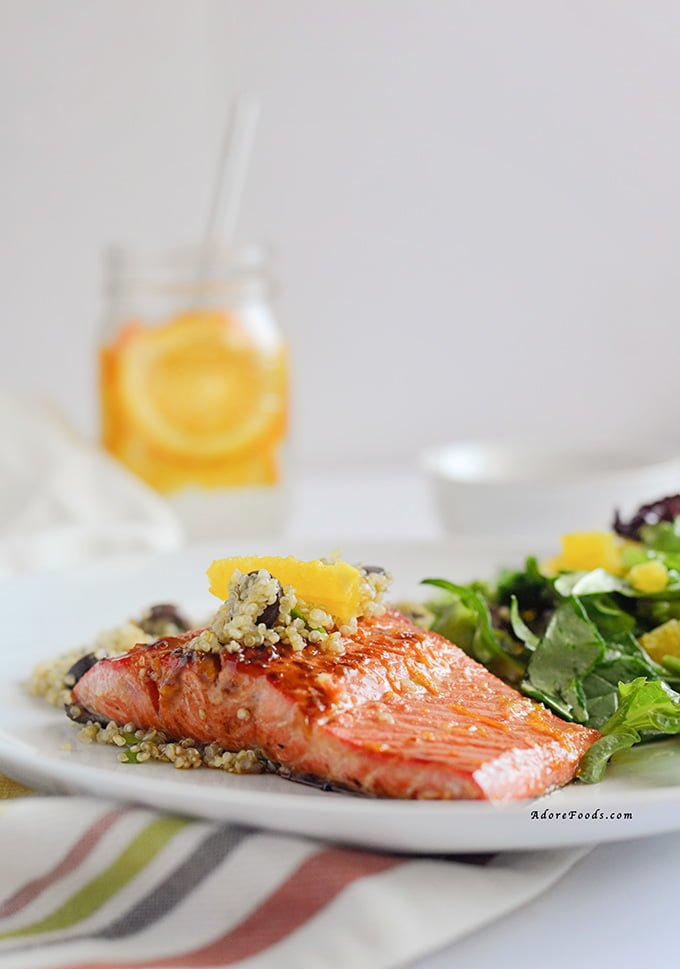 Orange Glazed Salmon with Quinoa