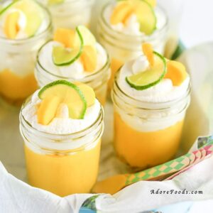 No Bake Mango Lime Pie