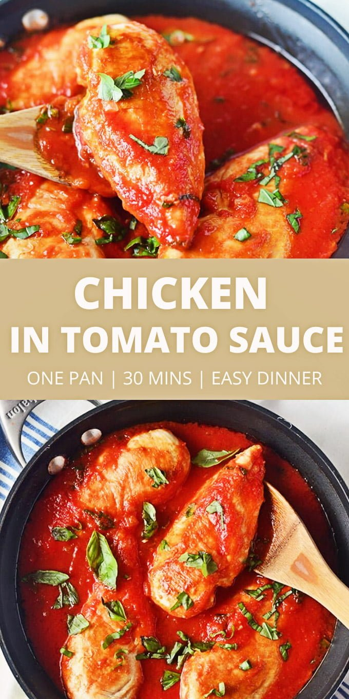 chicken breasts baked in tomato sauce