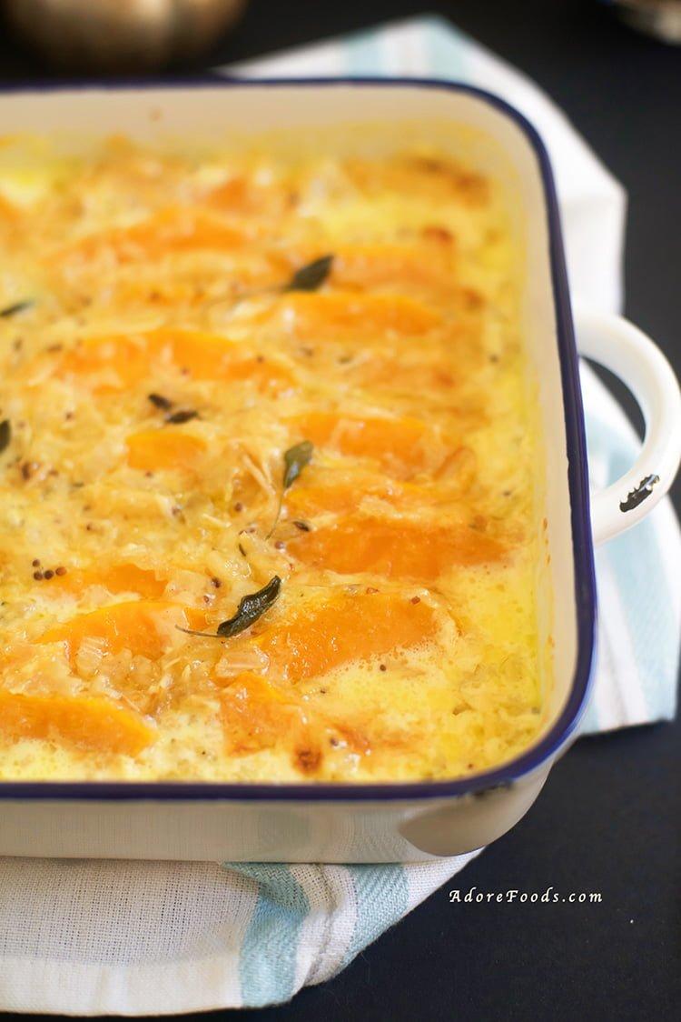 cheesy butternut squash gratin
