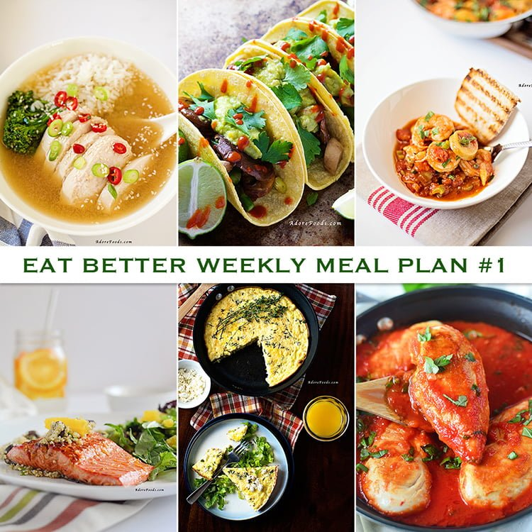 Eat Better Weekly Meal Plan