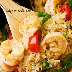 one pan shrimp orzo pasta recipe