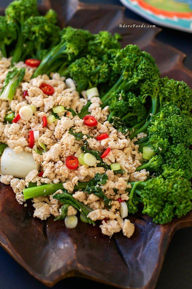 Perfect Quick Thai-Style Chicken Broccolini Stir Fry dinner recipe!