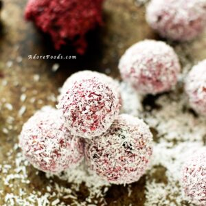 Blackberry Coconut Raw Energy Balls