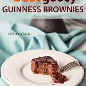 gooey guinness brownies