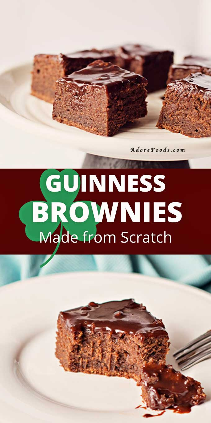 guinness brownies made from scratch
