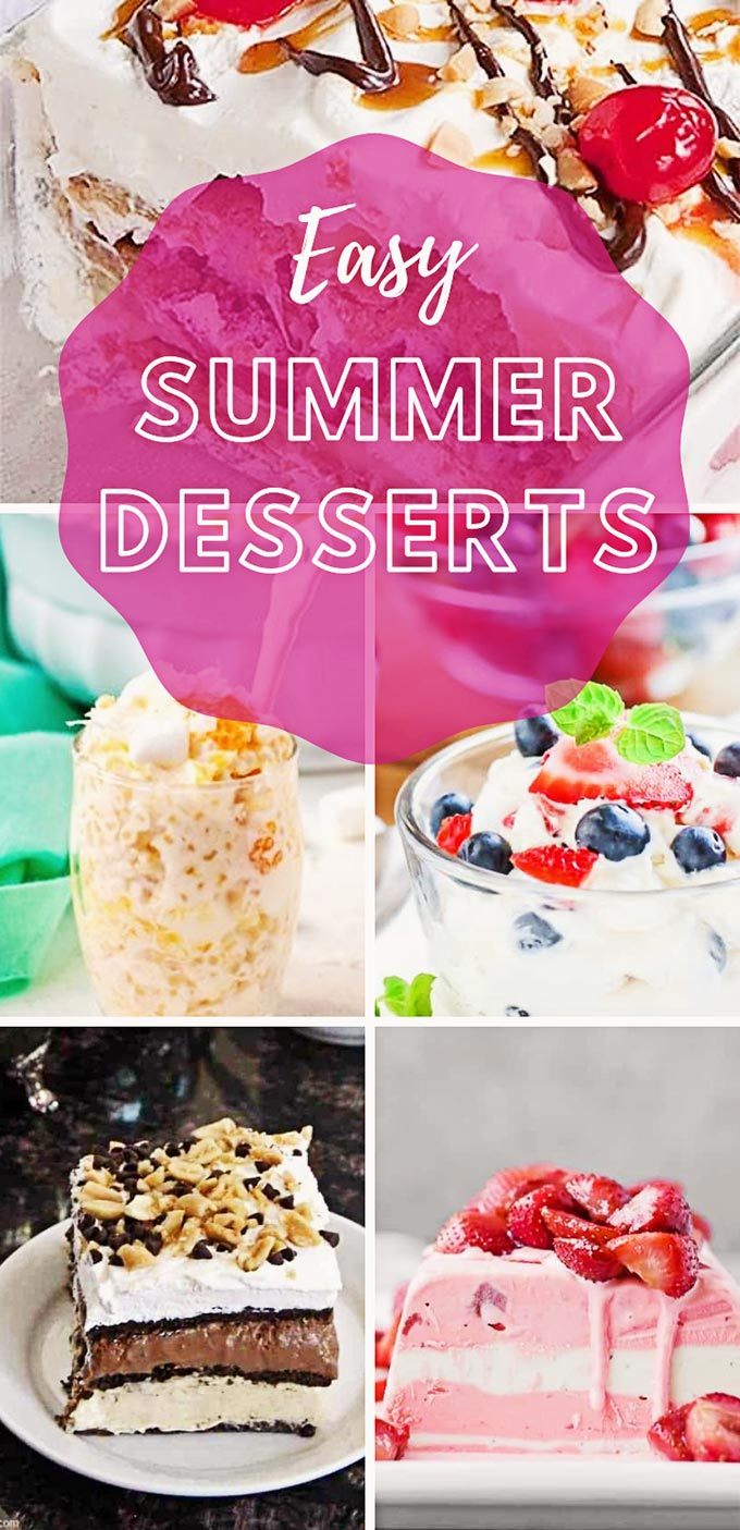 20 quick and easy dessert recipes to try this summer