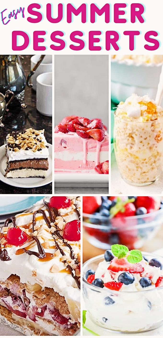 20 easy summer dessert recipes